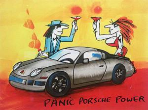 Abbildung von Udo Lindenberg. Panic, Porsche, Power